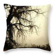 Spooky Tree Throw Pillow