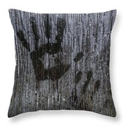 Spooky Window Throw Pillow