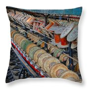 Spools At Lonaconing Silk Mill Throw Pillow