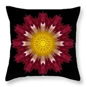 Spoon Chrysanthemum I Flower Mandala Throw Pillow
