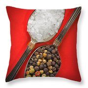 Spoonfuls Of Salt And Pepper Throw Pillow