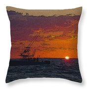Sport Fisher Throw Pillow