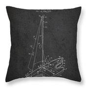 Sport Sailboat Patent From 1977 - Dark Throw Pillow