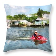 Sports - Man On Jet Ski Throw Pillow