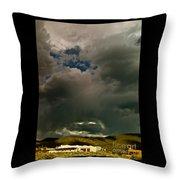 Spot Light On Grey Clouds Throw Pillow