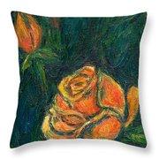 Spotlight Rose Throw Pillow