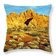 Spots Of Grass Throw Pillow