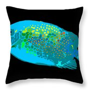 Spotted Colors Throw Pillow