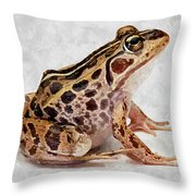 Spotted Dart Frog Throw Pillow