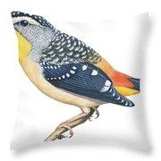 Spotted Diamondbird Throw Pillow