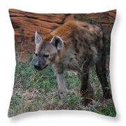 Spotted Hyena Throw Pillow