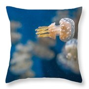 Spotted Jelly Aliens 1 Throw Pillow