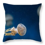 Spotted Jelly Aliens 2 Throw Pillow