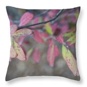 Spotted Leaves Throw Pillow