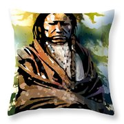 Spotted Tail Throw Pillow