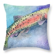 Spotted Trout Throw Pillow