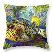 Spotted Trunkfish Throw Pillow
