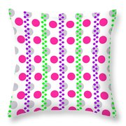 Spotty Stripe Throw Pillow