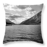 Spray Lake Throw Pillow
