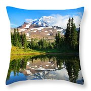 Spray Park Tarn Throw Pillow