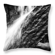 Sprays Of Water On Angled Rock Throw Pillow