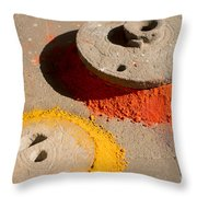 Spreading Colors In Life Throw Pillow