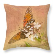 Spreading My Wings Throw Pillow
