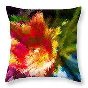 Spring Abstraction I Throw Pillow
