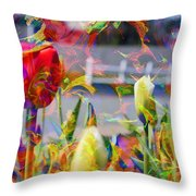 Spring Abstraction IIi Throw Pillow