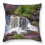 Spring At Blackwater Falls Throw Pillow