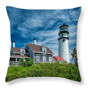 Spring At Cape Cod Light Throw Pillow