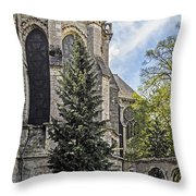 Spring At Chartres Throw Pillow