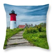 Spring At Nauset Light Throw Pillow