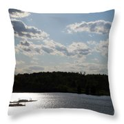 Spring At Smith Mountain Lake Throw Pillow