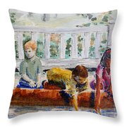 Spring At The Pond Throw Pillow