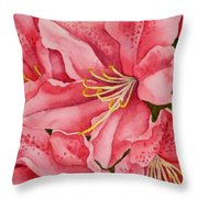 Spring Azalea Throw Pillow