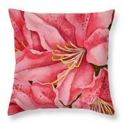 Spring Azalea Throw Pillow