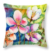 Spring Ballerinas Throw Pillow