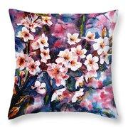 Spring Beauty Throw Pillow by Zaira Dzhaubaeva