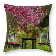 Spring Begins In Wonderland Throw Pillow