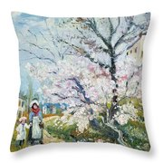 Spring Blossom Throw Pillow by Henri Richet