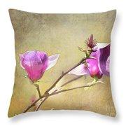 Spring Blossoms - Digital Sketch Throw Pillow