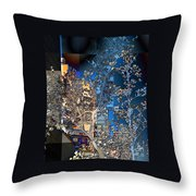 Spring Blossoms In The City - New York Throw Pillow