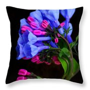 Spring Bluebells Throw Pillow