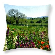 Spring Bouquet At Rusack Vineyards Throw Pillow