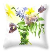 Spring Bouquet IIi Throw Pillow
