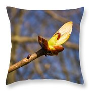 Spring Bud Throw Pillow