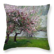 Spring By The River Throw Pillow