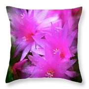 Spring Cactus Throw Pillow