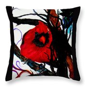 Spring Cardinal Throw Pillow